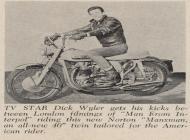 Dick Wyler on a Norton Manxman