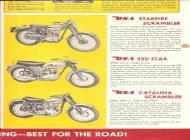 1963 BSA Starfire, 250 Star and Catalina sales brochure