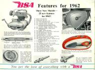 BSA features for 1962