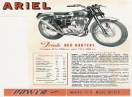 Ariel HT Red Hunter sales brochure