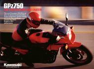 Kawasaki GPz750 sales brochure