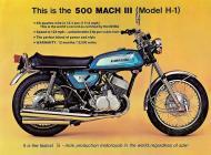 Kawasaki 500 Mach III sales brochure