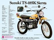 Suzuki TS-185K Sierra sales brochure