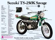 Suzuki TS-250K Savage sales brochure