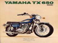Yamaha TX650 sales brochure