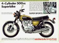 Honda CB-500 Four Sales Brochure