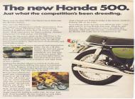 Honda 500 Four Sales Brochure