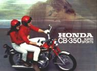1971 Honda CB350 Super Sports Sales Brochure