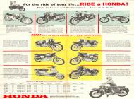 Early 1960s Honda Motorcycles Brochure