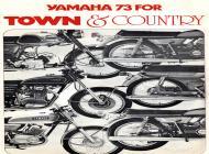 1973 Yamaha Motorcycle Sales Brochure