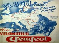 Classic Peugeot Motorcycle Advert