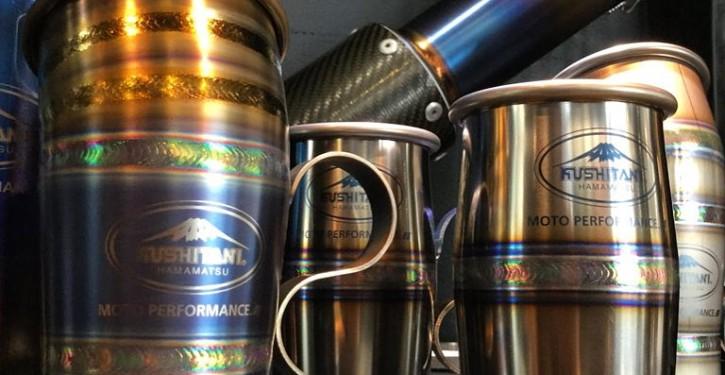 Kushitani Hand Made Titanium Cups