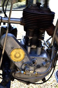 The Sunbeam golden disc and note the reproduction oil pump below, one concession that had to be made
