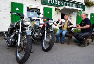 Great pals and great fun it's what classic bikes are all about, whoever has the best machine