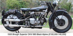 1930 Brough Superior OHV 680 Black Alpine