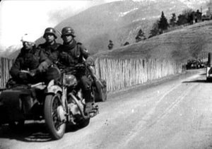 NSU 601 OSL image taken from the Nazi propaganda film 'The Battle for Norway' made in 1940