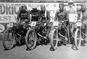 1920 Team Harley included Shrimp Burns, Red Parkhurst and Otto Walker managed by Bill Ottaway