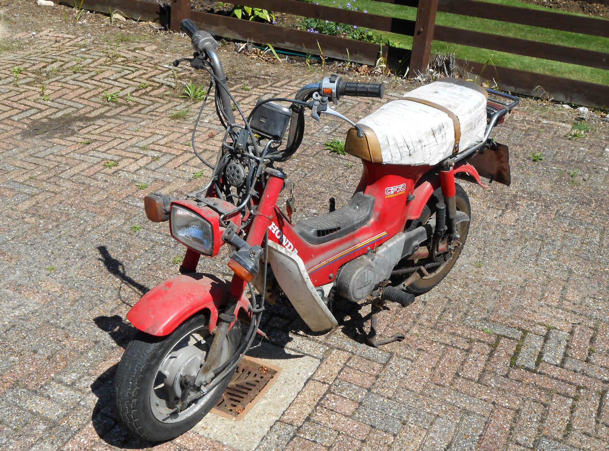 One Honda Chaly CF70; on a plus note it turns over, there are no other pluses