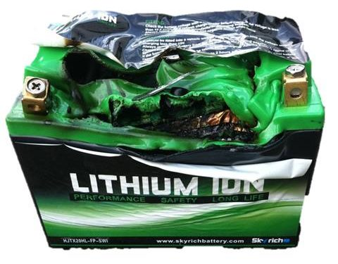 How not to treat an Li-ion battery