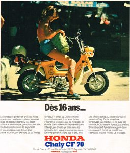 Honda Chaly period advert