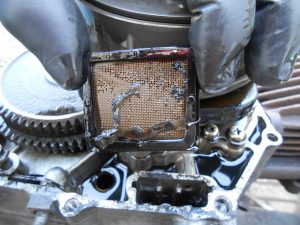 That's an oil filter and the snot attached came from outer space we think. Still all cleans up ok