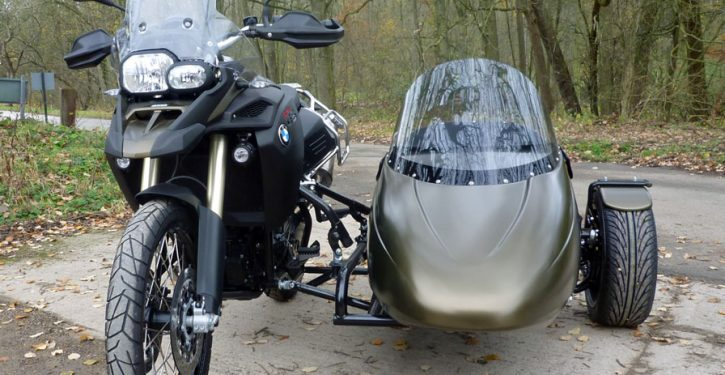 Watsonian's new Flight sidecar is now available to fit the BMW F800GS adventure sport bike