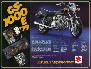 1979 GS1000E US brochure
