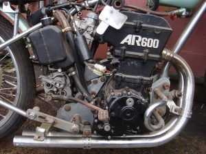 JAP powered speedway motorcycle engine