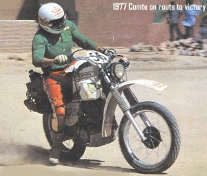 1977 - XT 500 Comte on route to victory-001
