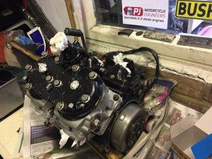 TZR250 engine