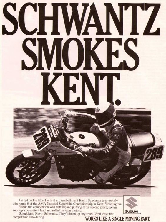 Kevin Schwantz on the two year old Yoshi 750 Katana his first factory ride in 1985