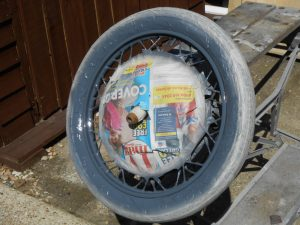 Honda P50 wheel restoration