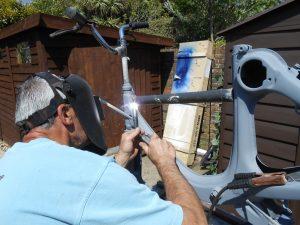 Honda P50 frame welding