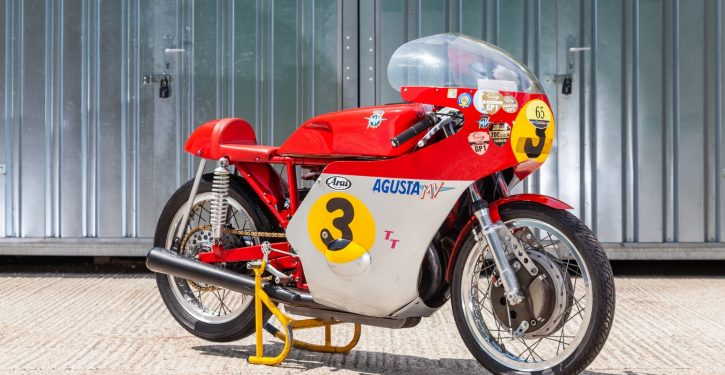 Six MV Agusta's will be up for auction including one ridden by Giacomo Agostini