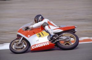Jon Ekerold on a 500cc Cagiva - Image Credit - Mortons Archive