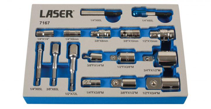 Socket & Bit Adaptor Set from Laser Tools