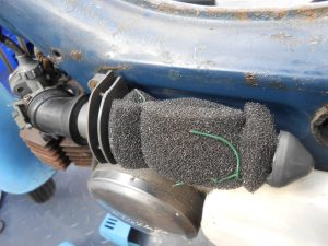 PC50 air filter was made with gardening twine with foam