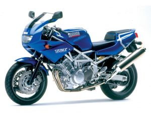TRX850 in 'Gauloises Blue' was naturally popular in France