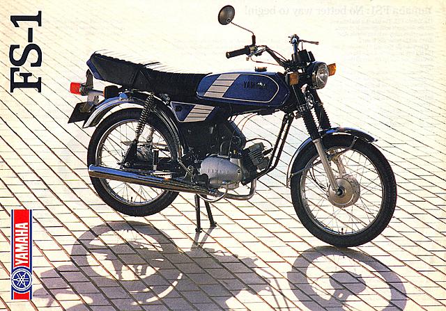 1987-1992 YAMAHA FS1 3F6 CARIBBEAN BLUE BROCHURE
