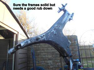Yamaha FS1 frame
