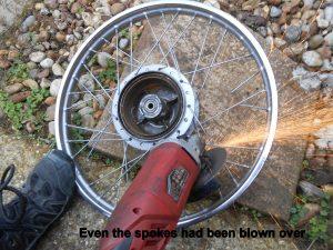 Yamaha FS1 wheel spokes