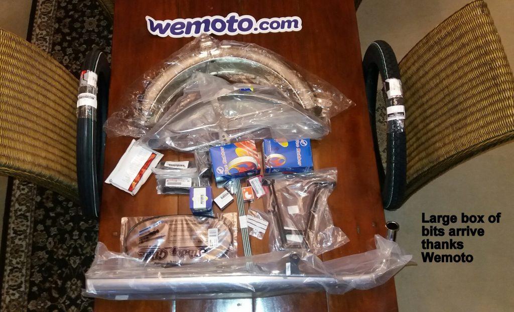 Wemoto Yamaha FS1 new parts