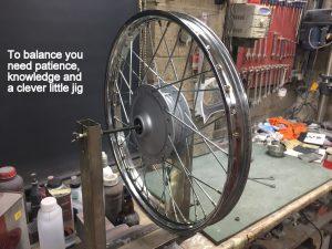 Yamaha FS1 wheel rim balancing