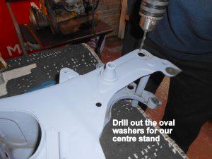 Yamaha FS1 centre stand installation
