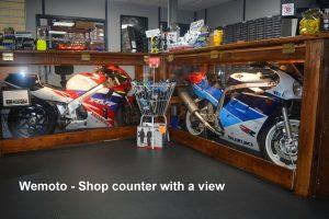 Wemoto shop counter