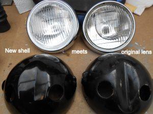 Yamaha FS1E headlight