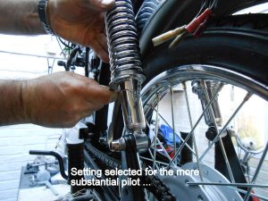 Yamaha FS1e rear shock adjustment