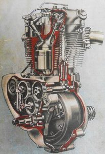 Triumph Tiger engine cutaway diagram
