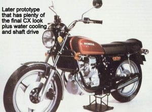 Honda CX500 later prototype