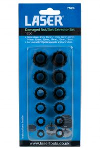 New Damaged Nut/Bolt Extractor set from Laser Tools